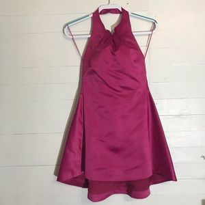 LUXXEL Fuchsia Prom/Homecoming Backless Dress